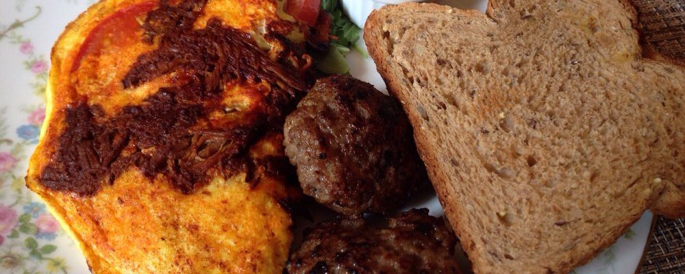 Carne Adobada in El Norteño Omelet